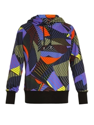 Christopher Kane Striped Paper Print Hooded Sweatshirt
