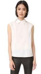Mcq By Alexander Mcqueen Cutout Top White