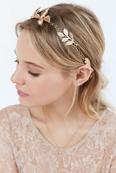 Urban Outfitters Metal Garland Tie Back Headband Gold