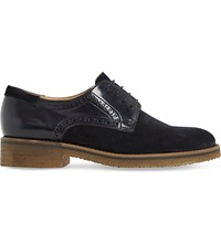 Dune Faithe Suede And Leather Oxford Shoes Navy Suede