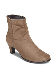 Aerosoles Red Light Slouchy Ankle Boots Taupe