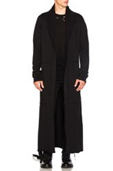 Unravel Terry Hooded Boxing Robe In Black