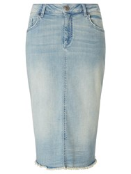 John Lewis Collection Weekend By Denim Pencil Skirt Bleached Blue