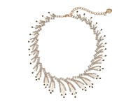 Betsey Johnson Crystal Gold Spray Frontal Necklace Crystal Necklace Gray