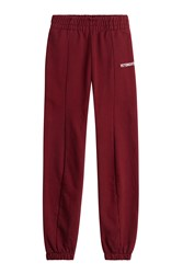 Vetements Cotton Sweatpants Red