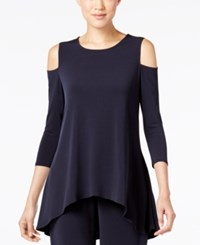 Alfani Cold Shoulder Swing Top Only At Macy's Modern Navy