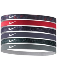 Nike 6 Pk. Active Mini Printed Headband Set Purple Dynasty