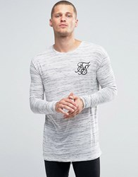 Sik Silk Siksilk Neppy Long Sleeve T Shirt With Fish Tail Hem White