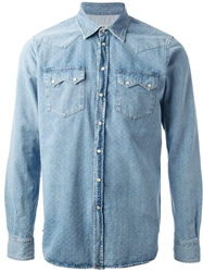 Department 5 Washed Western Shirt Blue