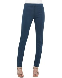 Akris Punto Mara Skinny Stretch Knit Pants Tarn