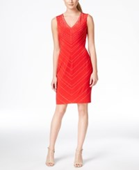 Calvin Klein Rhinestone Pattern Sheath Dress
