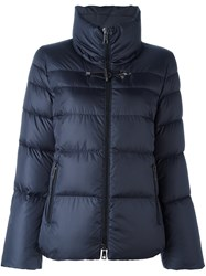 Fay Zipped High Neck Jacket Blue