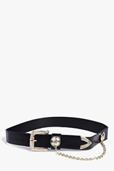 Boohoo Chain And Coin Detail Waist Belt Black