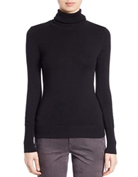 Buffalo David Bitton Stretch Turtleneck Top Solid Black