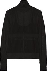 Narciso Rodriguez Silk Blend Turtleneck Sweater Black