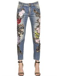 Amen Couture Embellished Cotton Denim Jeans