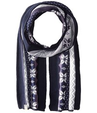 Smartwool Powder Day Scarf Ink Heather Scarves Navy