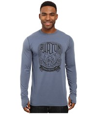 Burton Midweight Crew Washed Blue Men's Long Sleeve Pullover Multi