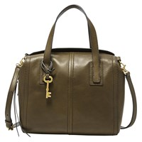 Fossil Emma Leather Satchel Canteen