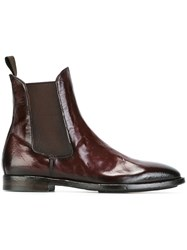 Officine Creative Chelsea Boots Red