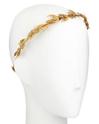 Jennifer Behr Aliya Metal Bandeaux Headband Gold