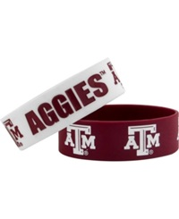 Aminco Texas A And M Aggies 2 Pack Wide Bracelets Team Color