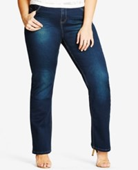 City Chic Trendy Plus Size Harley Bootcut Jeans Denim Mid