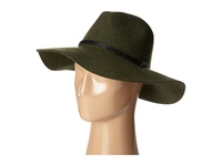 San Diego Hat Company Wfh8017 Floppy With Pinch Crown And Double Wrapped Faux Fur Leather Band Forest Green Caps