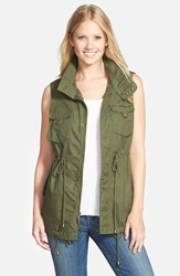 Pleione Cotton Twill Military Vest Army Green