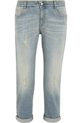 Stella Mccartney The Tomboy Mid Rise Boyfriend Jeans Blue