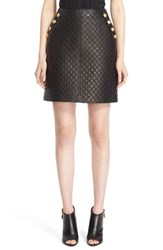 Burberry Women's 'Tyne' Quilted Lambskin Leather Skirt