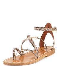 K. Jacques Epicure Strappy Gladiator Sandal Gray