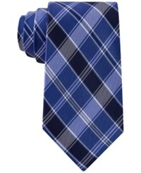 Club Room Men's Traditional Plaid Tie Only At Macy's Royal Blue