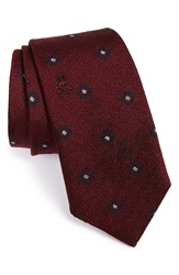 Psycho Bunny Medallion Silk Tie Bordeaux