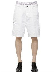 Dsquared Elastic Waistband Cotton Twill Shorts