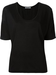 T By Alexander Wang Scoop Neck T Shirt Black