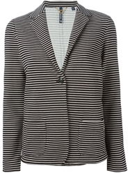 Woolrich Striped Blazer Blue