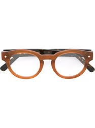Mcm Round Frame Glasses Brown