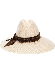 Baja East Straw Hat Nude And Neutrals