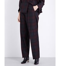 Vetements Baggy Suit Straight Checked Trousers Burg Check