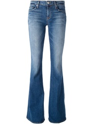 Hudson Stone Washed Flared Jeans Blue