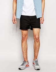 Asos Chino Shorts In Skinny Fit Shorter Length Black