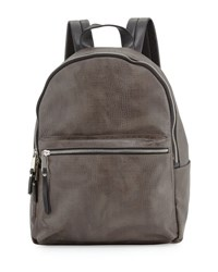 French Connection Perry Crocodile Embossed Backpack Dark Green