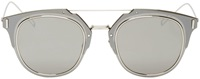 Christian Dior Silver Composit10 Mirrored Sunglasses