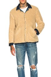 Simon Miller Asahi Faux Shearling Jacket In Blue Neutrals Blue Neutrals