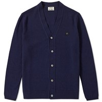 Acne Studios Dasher Face Cardigan Blue