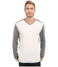 Agave Denim Nichols Baseball V Neck Long Sleeve Cloud Dancer Men's Clothing Multi