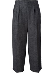 Fabiana Filippi Straight Leg Cropped Trousers Grey