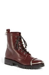 Alexander Wang Women's 'Lyndon' Military Boot Burgundy