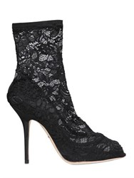 Dolce And Gabbana 105Mm Bette Stretch Lace Ankle Boots